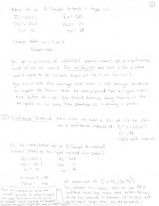 Hypothesis Test & Confidence Interval 2